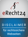 e-recht24 siegel disclaimer