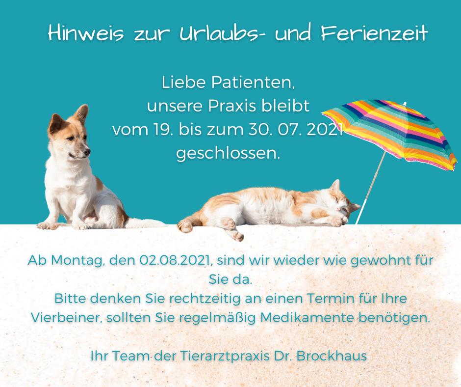 Urlaub Tierarztpraxis Dr.Brockhaus in Hattingen